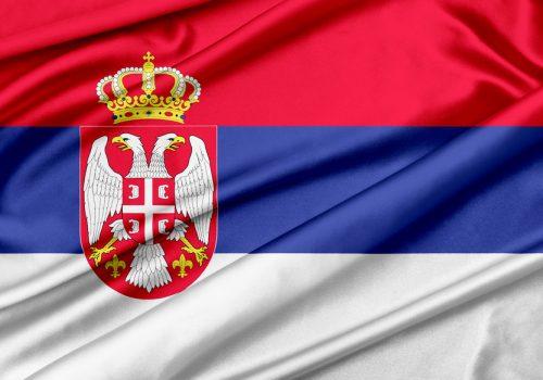 Flagge - Serbien
