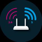 2.4 - 5 GHz Icon
