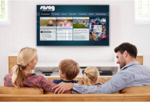 Familie am TV Motion Fernsehen