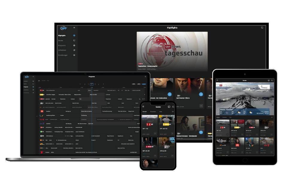 sappTV auf verschiedenen Geräten - transparent