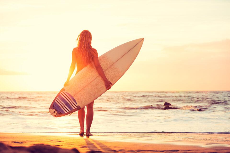 surfer frau - sapp and surf promotion